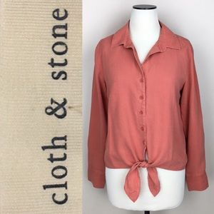 Cloth & Stone Salmon Button Down Shirt NWT
